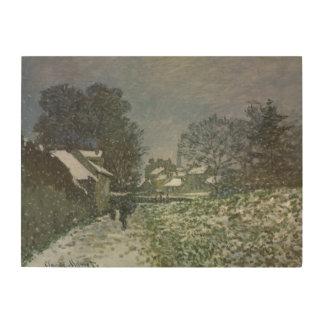 Schnee in Argenteuil durch Claude Monet, Vintage Holzdruck
