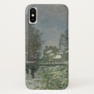 Schnee in Argenteuil durch Claude Monet, Vintage iPhone X Hülle