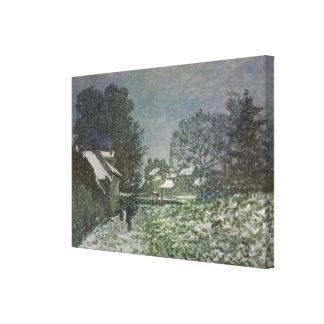 Schnee in Argenteuil durch Claude Monet, Vintage Leinwanddruck