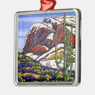 Schnee in der Catalinas Feiertags-Verzierung Silbernes Ornament