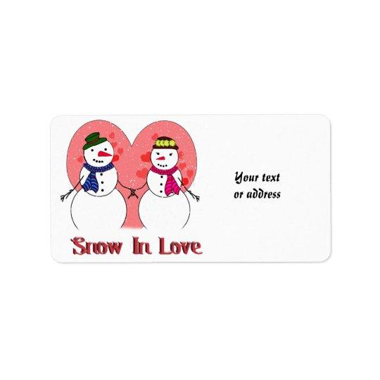 Schnee in der Liebe Adressaufkleber