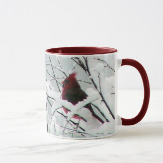 Schnee-Kardinals-Tasse Tasse