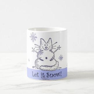 Schnee-Katze ließ es schneien Tasse