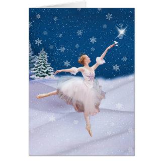 Schnee-Königin-Ballerina-Anmerkungs-oder Karte