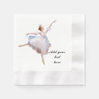 Schnee-Königin-Ballerina-kundengerechter Text Papierservietten