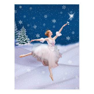 Schnee-Königin-Ballerina-Postkarte Postkarte