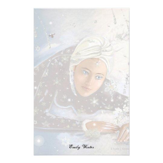 Schnee Königin Briefformular Briefpapier Zazzle