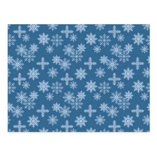 Schnee-Kristall Postkarte