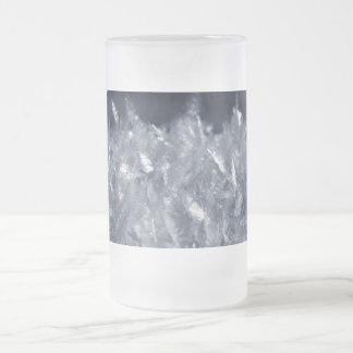 Schnee-Kristalle Mattglas Bierglas