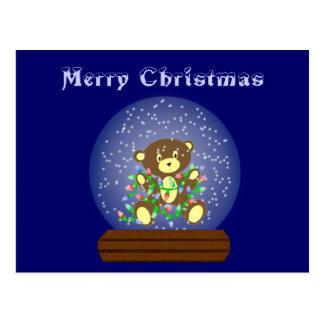 Schnee-Kugel-Bär Postkarte