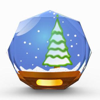 Schnee-Kugel-Cartoon Auszeichnung