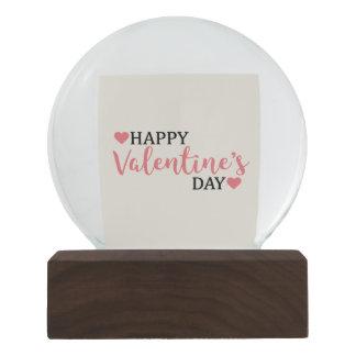 Schnee-Kugel für Valentinstag mit Herz Confetti Schneekugel