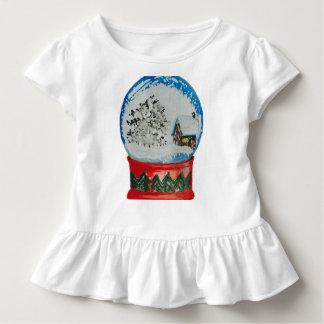 Schnee-Kugel-Kristallball-Winter-Dorf-Weihnachten Kleinkind T-shirt