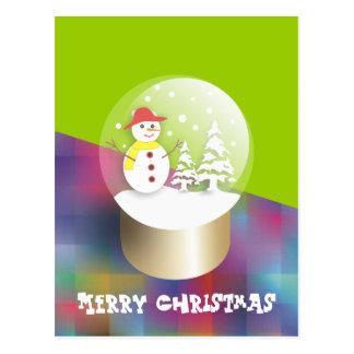 Schnee-Kugel-Postkarten Postkarte