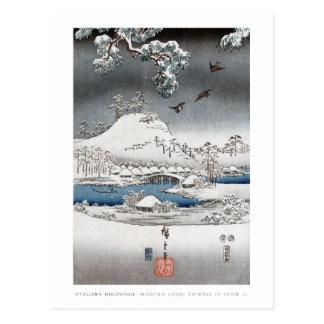 Schnee-Landschaftspostkarte Postkarte