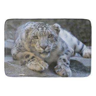 Schnee-Leopard-Bad-Matte Badematten