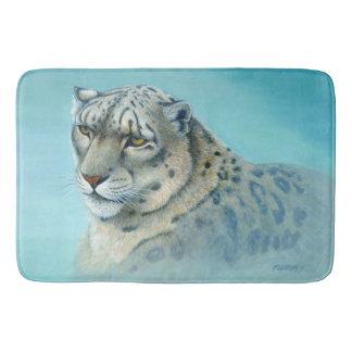 Schnee-Leopard - Badematte
