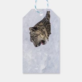 Schnee-Leopard begraben im Schnee Geschenkanhänger