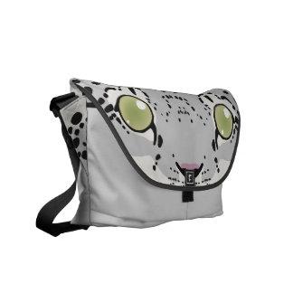 Schnee-Leopard-Bote-Tasche Kuriertasche