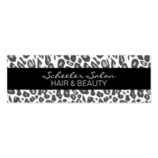 Schnee-Leopard-Druck - kundenspezifische dünne Visitenkartenvorlagen
