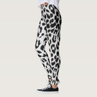 Schnee-Leopard-Druck Leggings