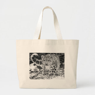 Schnee-Leopard Jumbo Stoffbeutel