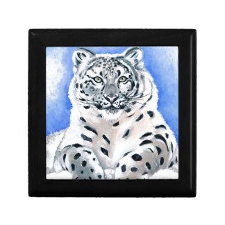 Schnee-Leopard-Kunst Erinnerungskiste