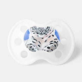 Schnee-Leopard-Kunst Schnuller
