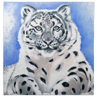 Schnee-Leopard-Kunst Serviette