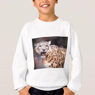 Schnee-Leopard-Malerei Sweatshirt