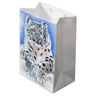 Schnee-Leopard Mittlere Geschenktüte