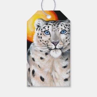 Schnee-Leopard-Mond Geschenkanhänger