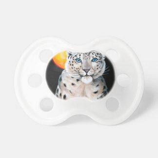 Schnee-Leopard-Mond Schnuller