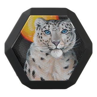Schnee-Leopard-Mond Schwarze Bluetooth Lautsprecher