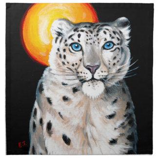 Schnee-Leopard-Mond Serviette