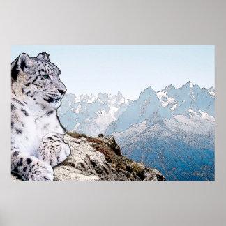 Schnee-Leopard Poster