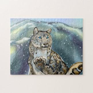 Schnee Leopard~puzzle Puzzle