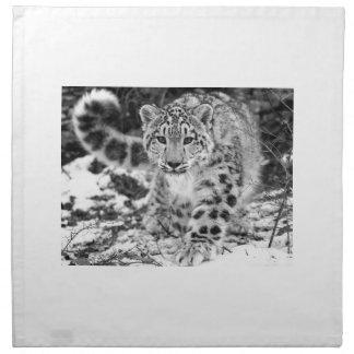 Schnee-Leopard Serviette