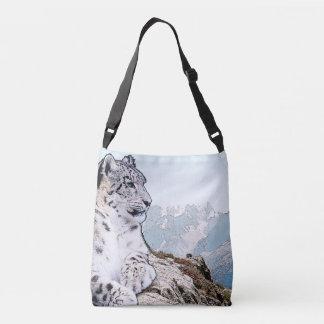 Schnee-Leopard Tragetaschen Mit Langen Trägern