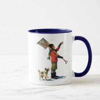 Schnee-Löffelente Tasse