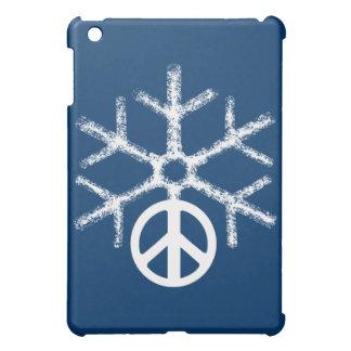 Schnee mit Frieden iPad Mini Hülle