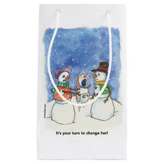 Schnee-Paar Parents Geschenk-Tasche Kleine Geschenktüte