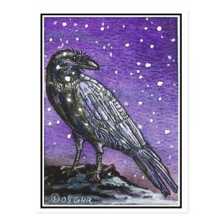 Schnee-Raben-Postkarte Postkarte