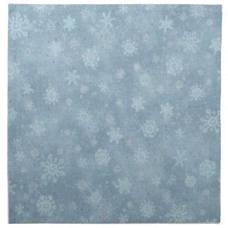 Schnee-Show-Blau Stoffserviette