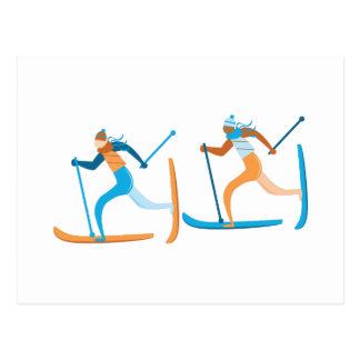 Schnee-Ski Postkarte