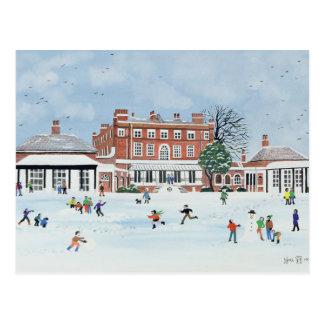 Schnee-Spaß 1991 Postkarte