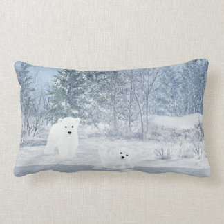 Schnee-Spaß - Eisbär CUB, Lendenkissen