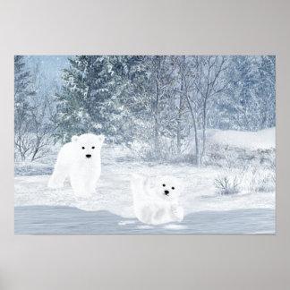 Schnee-Spaß - Eisbär CUB, Poster