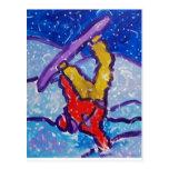 Schnee-Sport durch Piliero Postkarten
