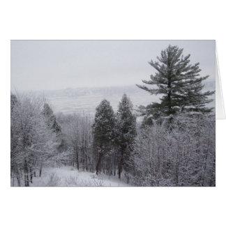 Schnee-Szene Karte